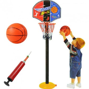 Super SPOT Set Basketball Kids Toddler Baby Indoor Adjustable Basketball Hoop Toy Set Stand Ball Pump 9602 Price Philippines