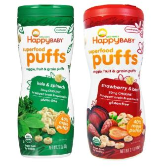 Harga Happy Baby Puffs Bundle of Kale and Spinach, Strawberry and Beet