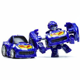 Harga Hanyu Fast Gods King Kong Q Version Transformed Toys King Kong Mini Ransformer Robot Transforming Car Robot Toys-Blue - intl