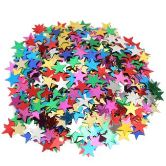 Muilt Color Sparkle Heart Star Confetti Paper Wedding Table Decoration DIY Craft Mini Stars - intl Price Philippines