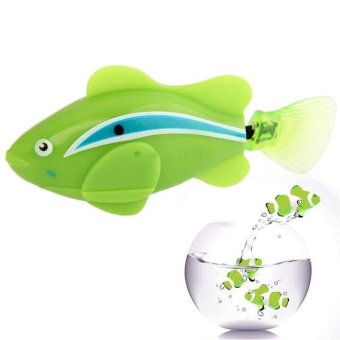 Popular Robo Fish / Electric Pet Fish Toy Gifts for Kids Children Green - intl Price Philippines