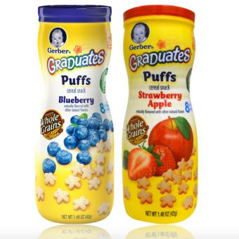 Harga Gerber Graduates Puffs Cereal Snack Pack of 2 (Strawberry Apple & Blueberries)