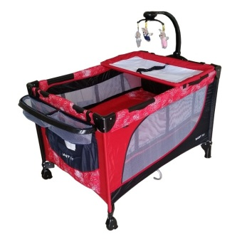 Baby 1st Crib Playpen with Rocking System (Red) Price Philippines