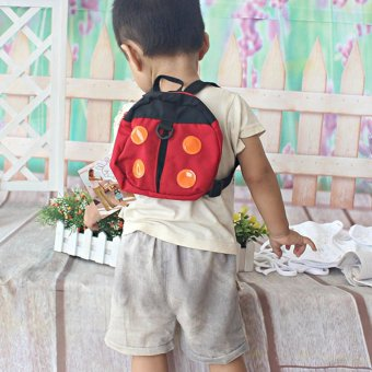 Harga 2in1 Ladybird Shaped Keeper Anti Lost Safety Harness Baby Backpack Walk Harness