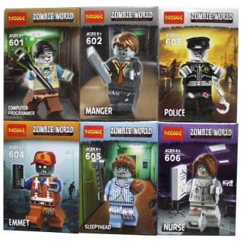 Set of 6 Decool Zombie World Building Blocks Price Philippines