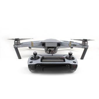 Luxury Carbon Fiber Skin Wrap Waterproof Stickers For DJI Mavic Pro Accessories Silver - intl Price Philippines
