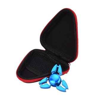 Gift For Fidget Hand Spinner Triangle Finger Toy Focus ADHD Autism Bag Case Red - intl Price Philippines