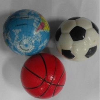 Mini Soft Stress Toy Balls 2.4 inch ( Basketball, soccer ball, Globe) Set of 3 Price Philippines