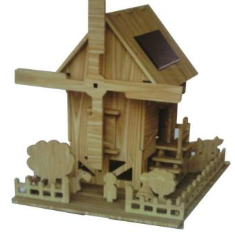 Harga Solar Wooden Toy-Windmill House