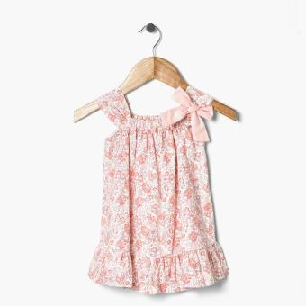 Harga Crib Couture Girls Floral Ruffle Hem Dress (Peach)