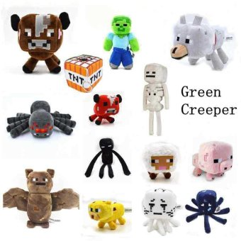 Minecraft Dolls Bat Zombie Cow Squider Ocelot Enderman Sheep Skeleton Wolf Ghast Minecraft Tnt plush Education toys for baby - intl Price Philippines