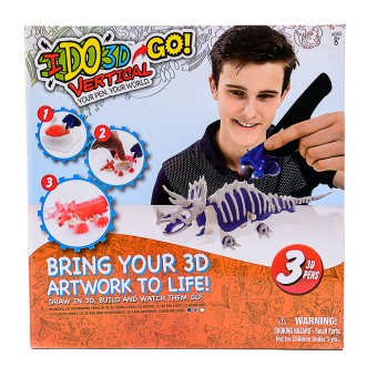 Harga IDO 3D Go Vertical with 3-pcs 3D Pens and Penlight
