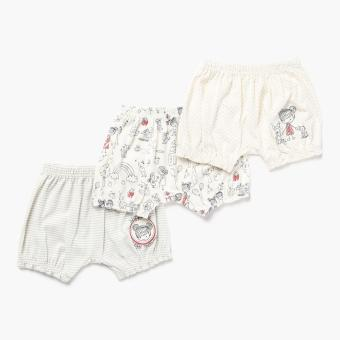 Hush Hush Girls 3-piece Best Little Baby Bloomer Shorts Set (Off-White) Price Philippines