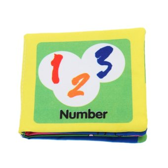 Harga Eozy Number Recognizing Book Intelligence development Cloth Fabric Tearproof Books Educational Toy for Children Kids Baby
