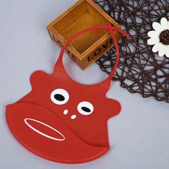 Durable Babies Silicone Bib Soft Cartoon Shape (Red) - Intl Price Philippines
