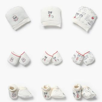 Hush Hush Girls 3-Pack Best Little Baby Beanie, Mittens, and Footsies Set (FS) Price Philippines