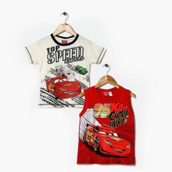 Harga Cars Boys 2-Piece Cars Graphic Tee Set (4T)