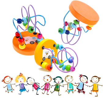 Children Kids Baby Colorful Wooden Mini Around Beads Educational Toy Price Philippines