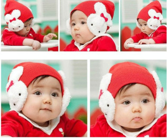 Baby Toddler Kids Girls Photography Props Outfit Cap Hat (Red) Price Philippines