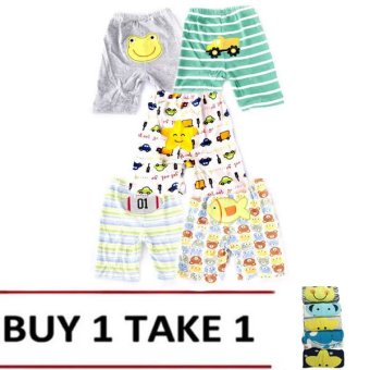 Harga Baby Boy Shorts Set of 5 (Assorted design & color) Buy 1 Take 1