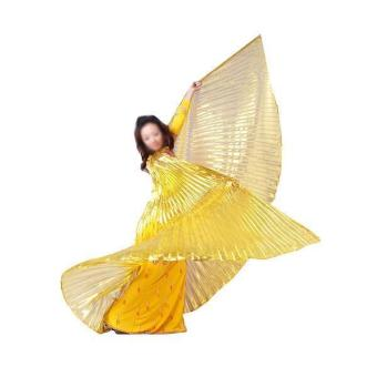 Shining Belly Dance Costume Isis Wings - Golden Price Philippines