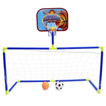 Anjanle Kids Portable 2-In-1 Football Basketball Set Indoor Outdoor Sport Toy Developmental Game(Colormix) - intl Price Philippines