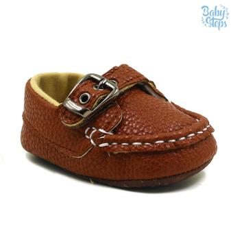 BABY STEPS Andie Leather Baby Boy Shoes Casual (Brown) Price Philippines