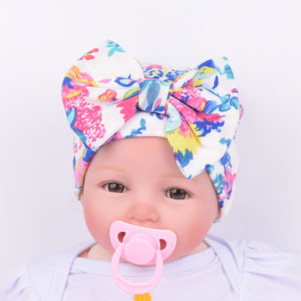Newborn Baby Girl Toddler Bowknot Hospital Cap Beanie Hat - intl Price Philippines