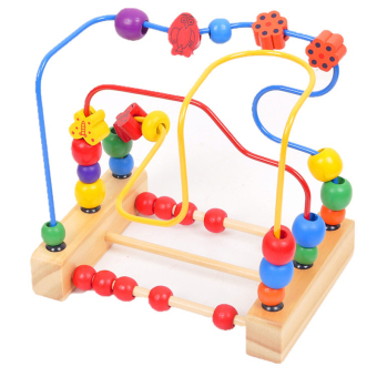Children Kids Baby Colorful Wooden Mini Around Beads Educational Game Toy Price Philippines
