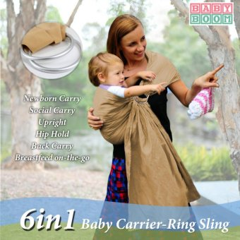 Baby Boom Premium Adjustable and Breathable Ring Sling Baby Carrier Price Philippines