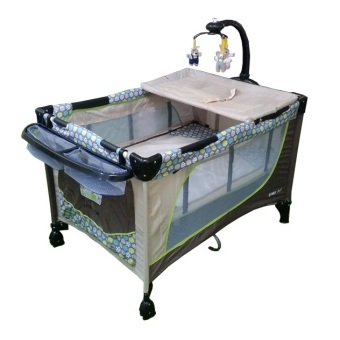 Baby 1st Crib (510DCR) Playpen with Rocking System (Brown) Price Philippines