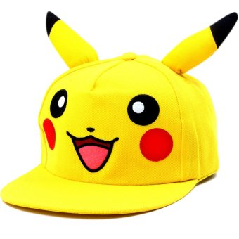 ANIME ZONE Super Cute Pikachu Pokemon Anime Unisex Fashionable Snapback Cosplay Cap with Ears Price Philippines
