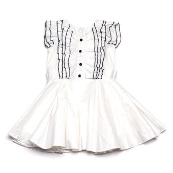 Baby Fashionista Ruffled Flare Dress (White) Price Philippines