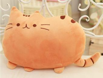 Harga Creative Cat Plush Gift Cute Big Tail Fat Cat Doll Pillow - Orange - intl