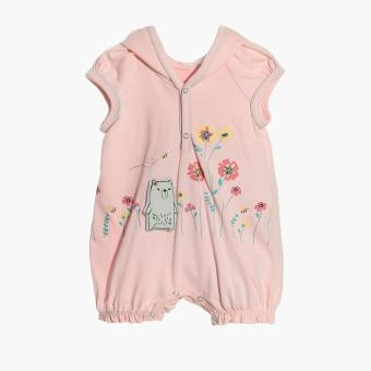 Hush Hush Girls Bear's Flowers Hooded Romper (Pink) Price Philippines