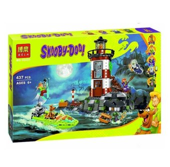 Harga 437pcs Bela 10431 Haunted Lighthouse Scooby Doo Dog Model Minifigures Bricks Blocks 3D Kids Toy Gifts Compatible with Legoe