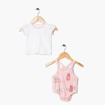 Hush Hush Girls Kitty Friends Jumper Onesie (Peach) Price Philippines
