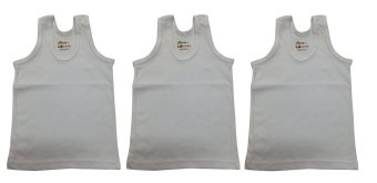 Cherry Boy's Sando- Set of 3 (White) Price Philippines