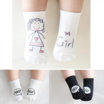 Lovely 3 Pairs Baby Girls Socks For 0-2 Years Price Philippines