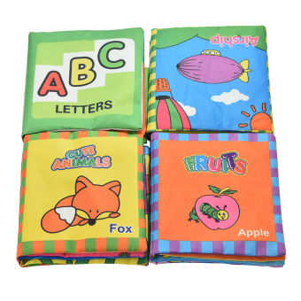 Harga 1 Set Fabric Books Educational Cloth Book Preschool Training Cartoon Baby Toy