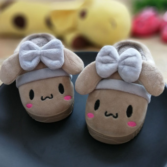 Indoor girls boy's non-slip warm children's slippers cotton slippers
