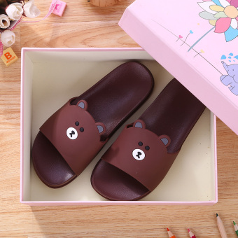 Indoor Korean-style female boy's home slippers children's slippers