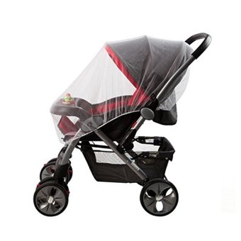 Infant Baby Pram Mosquito Net Buggy Pushchair Stroller Fly Midge Insect Cover Protector - intl