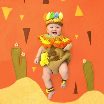 Infant Newborn Baby Girl Boy Cute Clown Photography Props ClothesSet New born Baby Photo Props fotografia Accessories Costume
