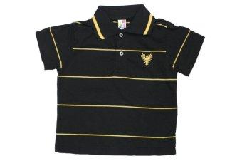 Infant's Polo Shirt #1020-stripe A (Black)