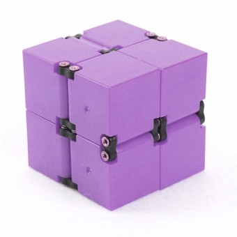 Infinity Cube Mini For Stress Relief Fidget Anti Anxiety Stress (Violet) Set of 2