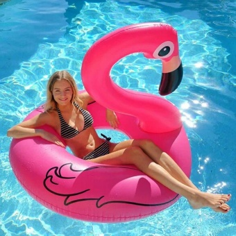 Inflatable Flamingo Circle Pool Floats Toy Air Mattress Swimming Float Inflatable Pool Ring Toys for Adult Para Piscina 120cm - intl