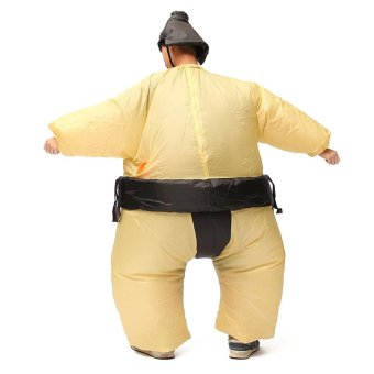 Inflatable Sumo Wrestler Fancy Dress Costume Fat Suit Hen Stag Night Outfit - intl - 5