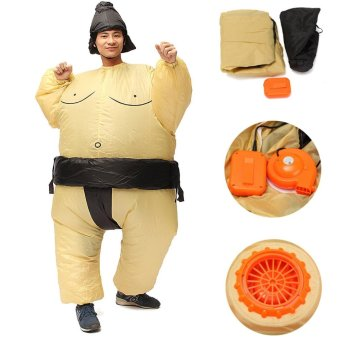 Inflatable Sumo Wrestler Fancy Dress Costume Fat Suit Hen Stag Night Outfit - intl