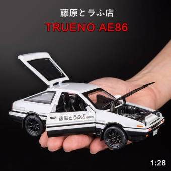 Initial D: First Stage AE86 1:32 Scale Die-cast Model Car with Light & Sound,Door Opening - intl